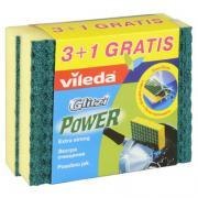 Губка экстра очищение глитци power 3+1 шт vileda