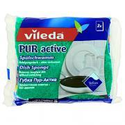 """Губка для посуды """"Pur Active"""", 2 шт"""