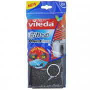 """Губка для мытья посуды Vileda """"Inox Power"""", металлическая, 2 шт"""