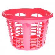 """Корзина для белья Dunya Plastik """"Стиль"""", цвет: розовый, 33 л"""