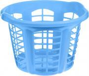 """Корзина для белья Dunya Plastik """"Стиль"""", цвет: голубой, 33 л"""