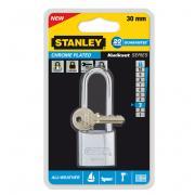 """Замок """"Stanley"""" из хромированной латуни, удлиненная дужка, 30 мм...."""