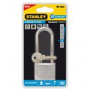 """Замок """"Stanley"""" из хромированной латуни, удлиненная дужка, 40 мм...."""