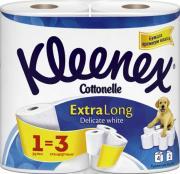 """Kleenex Cottonelle Туалетная бумага """"Extra Long"""", двухслойная, цвет:..."""