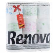 """Туалетная бумага Renova """"Design"""", двухслойная, цвет: белый, 9 рулонов"""