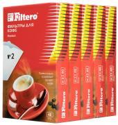 Filtero Premium №2 комплект фильтров для кофеварок, 200 шт