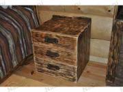 Старенный Тумба прикроватная на 3 ящика, кедр (540*430*430mm)