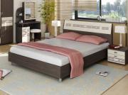 Кровать Витра 95.01/95.02+OK1/OK2 Спальное место 1400 X 2000 мм, Венге...