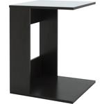 Стол журнальный Мебелик BeautyStyle 3, венге/стекло белое