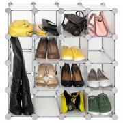 "Стеллаж для обуви Tatkraft ""Smart Cube"", цвет: серый"