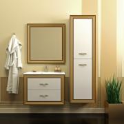 Opadiris Мебель для ванной Карат 80 с золотой патиной