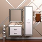 Opadiris Мебель для ванной Карат 80 с серебряной патиной
