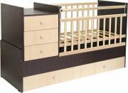 Кровать-трансформер детская Фея 1000 Венге-клен