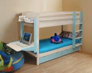 Кровать детская двухъярусная массив с ящиками 900x2000 мм...