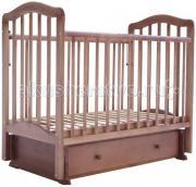 Детская кроватка Лаура 5 маятник поперечный с ящиком