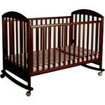 """Кроватка Papaloni """"Джованни"""" 125х65см колеса/качалка (шоколадный орех)..."""