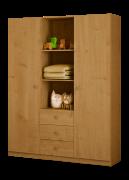 Детский шкаф 3-х секционный ФЕЯ бук