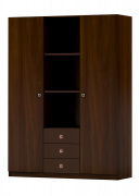Детский шкаф 3-х секционный ФЕЯ венге