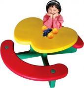 """Столы и стулья Столик с лавочками """"Яблочко"""" Lerado [LA-612]"""
