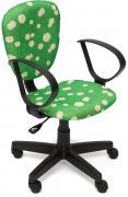 Tetchair Кресло CH413 ткань Ромашки на зеленом