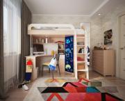 Комплект детской мебели Мебельсон Мультиплекс фасад грифельный Дуб...