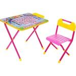 "Набор мебели Дэми ""Алфавит"" стол и стул (розовый)"