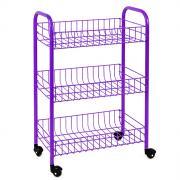 """Этажерка Metaltex """"Siena Color"""", 3-уровневая, цвет: фиолетовый, 41 x..."""