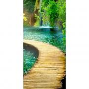"Фотообои Твоя Планета ""Premium. Дорожка к водопаду"", 3 листа, 97 х 204..."