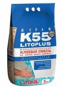 Клей плиточный LITOKOL LITOPLUS K55 / ЛИТОКОЛ ЛИТОПЛЮС K55 белый (5...