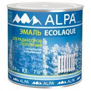 Экоэмаль для радиаторов Alpa / Альпа белая п/мат (0.5 л)