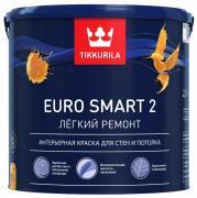 Краска латексная Tikkurila Euro Smart 2 / Тиккурила Евро 2 (2.7 л)