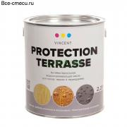 Vincent Protection Terrasse. Масло деревозащитное. (ведро 2,25 л)