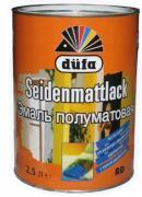 Краска Dufa Seidenmattlack / Дюфа эмаль полуматовая белая по металлу и...