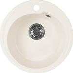 Кухонная мойка AquaGranitEx M-45 450х450 белый (M-45 331)
