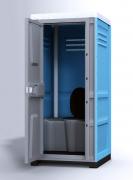 Туалетная кабина Toypek в собранном виде синий цвет