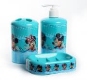 """Набор для ванной комнаты Disney """"Микки и Минни Маус"""", цвет: голубой, 3..."""