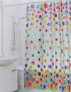 """Штора для ванной 3D Valiant """"Герберы"""", цвет: зеленый, розовый, желтый,..."""