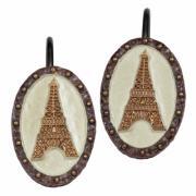 Набор из 12 крючков для шторки Creative Bath коллекция I Love Paris