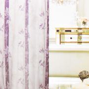"Штора для ванной Fresh Code ""Фиолетовые цветы"", цвет: белый,..."