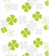 """Штора для ванной комнаты Vanstore """"Листья"""", цвет: зеленый, белый,..."""