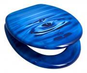 """Сиденье для унитаза Duschy """"Drop"""", цвет: синий, голубой, 44 х 37 х 5..."""