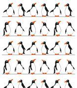 """Штора для ванной комнаты Vanstore """"Пингвины"""", цвет: белый, черный,..."""