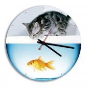"""Часы настенные Miolla """"Аквариум"""", цвет: белый, серый"""