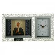 """Часы с иконой """"Блаженная Матрона Московская"""", 26 см х 13 см"""