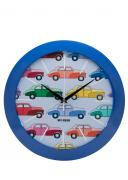 """Часы настенные Mitya Veselkov """"Цветные машинки"""", цвет: синий...."""