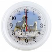"""Часы настенные Вега П 6-0-16 """"Лошади"""" (П 6-0-16)"""