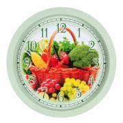 """Часы настенные Miolla """"Овощи"""", цвет: серый, красный"""