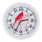 """Часы настенные Miolla """"Попугай"""", цвет: серый, красный"""