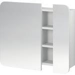 Зеркало Cersanit Pure со шкафчиком полочкой без подсветки белый...