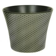 """Кашпо для цветов """"Almas"""", цвет: серый, диаметр 12 см"""